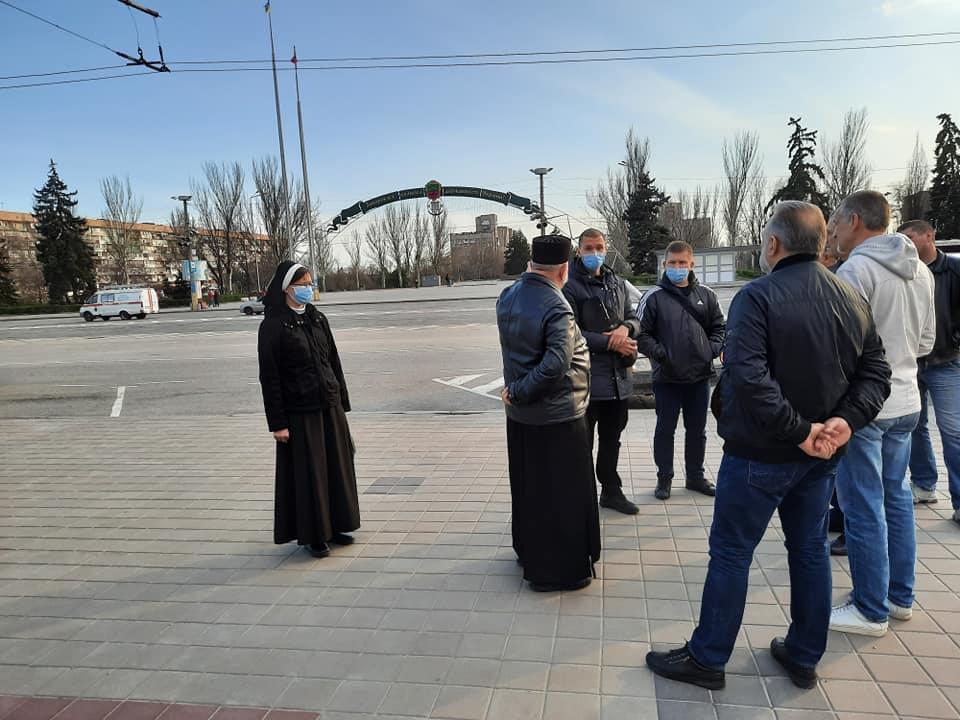 """У Запоріжжі кільком християнам заборонили помолитися на вулиці """"через карантин"""""""
